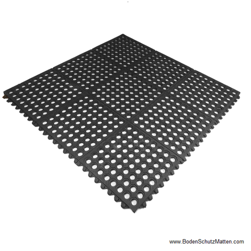 Gummi Ringlochmatte Grosse 90x90x1 2cm Klicksystem Bodenbelag