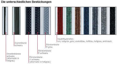 alu profil eingansmattensystem ntec10 frei w hlbare eins tze 10mm. Black Bedroom Furniture Sets. Home Design Ideas